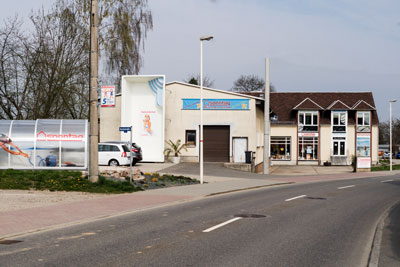 Straßenansicht unserer Verkaufsstelle in Glauchau
